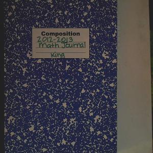 Math Journal 2012-2013