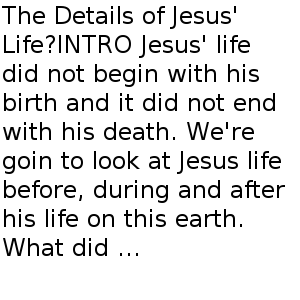 Who is Jesus? Part Two