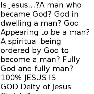 Who is Jesus? Part Three