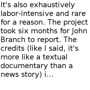 Thumbnail for 'Snow Fall' Isn't the Future of Journalism - Derek Thompson - The Atlantic
